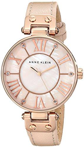 アンクライン 時計 レディース 腕時計 Anne Klein Women's 10/9918RGLP Rose Gold-Tone Watch with Leather Band