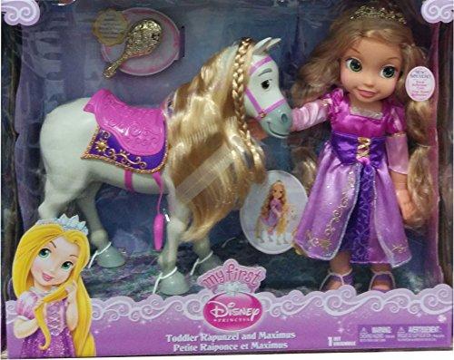 ディズニー プリンセス ドール 人形 フィギュア 塔の上のラプンツェル マキシマス My First Disney Princess Royal Reflection Eyes Toddler Rapunzel and Maximus Horse Doll Set with Brush