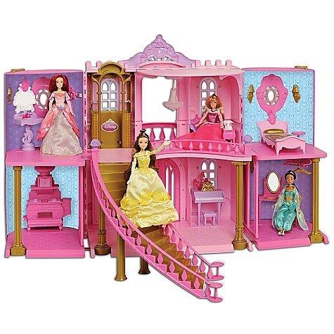 ディズニー プリンセス ドール 人形 フィギュア キャッスル ドールハウス Disney Store Exclusive Classic Princess Enchanted Castle Doll House