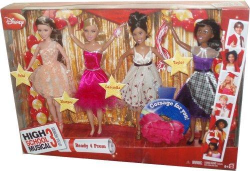 ディズニー ドール 人形 フィギュア ハイスクール・ミュージカル Disney High School Musical 3 Senior Year Exclusive 10 Inch Doll 4 Pack Set - Ready 4 Prom with Kelsi, Sharpay, Gabriella and Taylor Plus Bonus Corsage Just For You