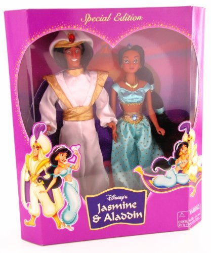 ディズニー プリンセス ドール 人形 フィギュア アラジン ジャスミン Disney Princess Jasmine & Aladdin Special Edition Doll Set Disney Parks Edition Green Outfit