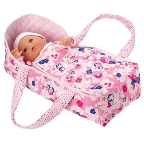 本物保証!  コロール ベビードール 赤ちゃん 人形 フィギュア キャリーベッド 人形 ベビードール クーハン Carry Corolle Floral Carry Bed, シューズダイレクト:fbcb8ecf --- kventurepartners.sakura.ne.jp