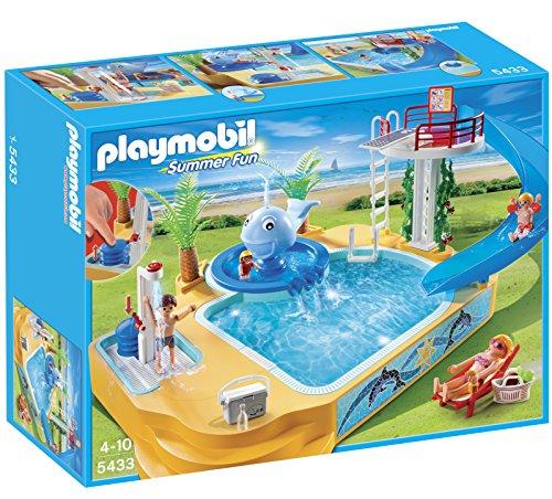 プレイモービル 5433 クジラプール PLAYMOBIL Children's Pool with Whale Fountain Playset