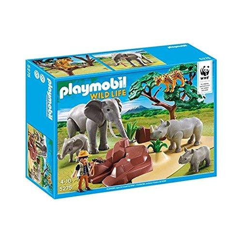 プレイモービル 5275 WWF サバンナの野生動物たち Playmobil wild life 5275 animaux de la savane avec photographe