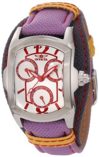 インヴィクタ インビクタ 腕時計 レディース 時計 Invicta Women's 12279 Lupah Silver Dial Light Purple and Grey Canvas Watch