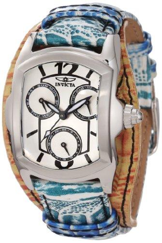 インヴィクタ インビクタ 腕時計 レディース 時計 Invicta Women's 12265 Lupah Silver Dial Green and Gold Tone Leather Watch