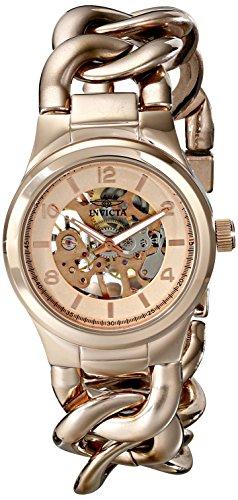 """インヴィクタ インビクタ 腕時計 レディース 時計 Invicta Women""""s 17252 Angel Analog Display Mechanical Hand Wind Rose Gold Watch"""