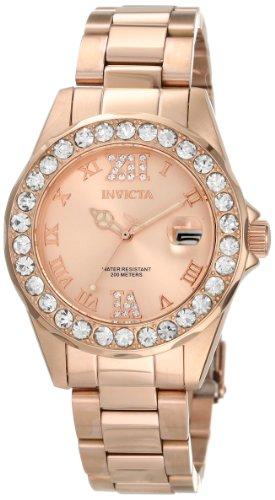 """インヴィクタ インビクタ 腕時計 レディース 時計 Invicta Women""""s 15253 Pro Diver Rose Gold Dial Stainless Steel Watch"""