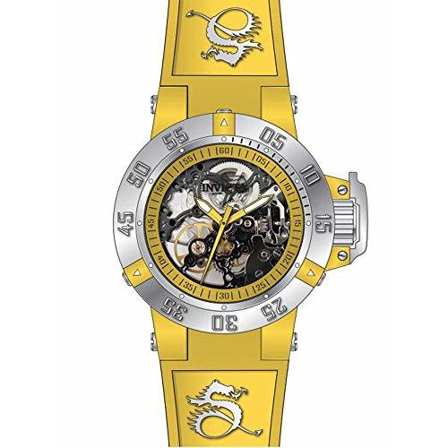 インヴィクタ インビクタ 腕時計 レディース 時計 Invicta Subaqua Mechanical Yellow Skeleton Yellow Silicone Ladies Watch 17132