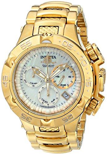 """インヴィクタ インビクタ 腕時計 レディース 時計 Invicta Women""""s 17222 Subaqua Analog Display Swiss Quartz Gold Watch"""