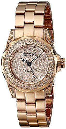 """インヴィクタ インビクタ 腕時計 レディース 時計 Invicta Women""""s 16710 Pro Diver Analog Display Swiss Quartz Rose Gold Watch"""