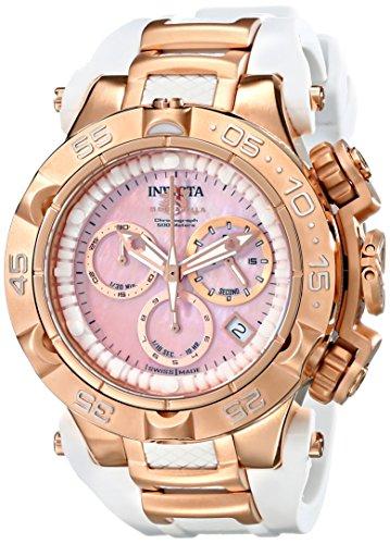 """インヴィクタ インビクタ 腕時計 レディース 時計 Invicta Women""""s 17240 Subaqua Analog Display Swiss Quartz White Watch"""