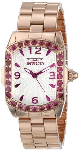 インヴィクタ インビクタ 腕時計 レディース 時計 Invicta Women's 14140 Lupah Silver Textured Rubelite Accented 18k Rose Gold Ion-Plated Stainless Steel Watch