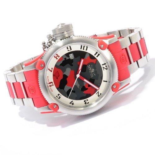 インヴィクタ インビクタ 腕時計 レディース 時計 Invicta Womens LEFTY Russian Diver Swiss Made Stainless Steel & Red Camouflage Watch 11532