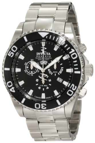 インビクタ 時計 インヴィクタ メンズ 腕時計 Invicta Men's 1020 Pro Diver Reserve Chronograph Black Dial Stainless Steel Watch
