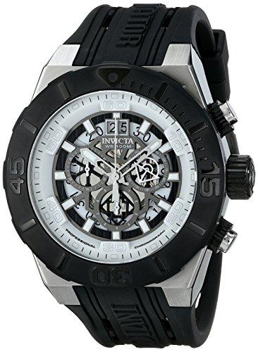 """インビクタ 時計 インヴィクタ メンズ 腕時計 Invicta Men""""s 15890SYB """"""""Aviator"""""""" Stainless Steel Watch With Black Band"""