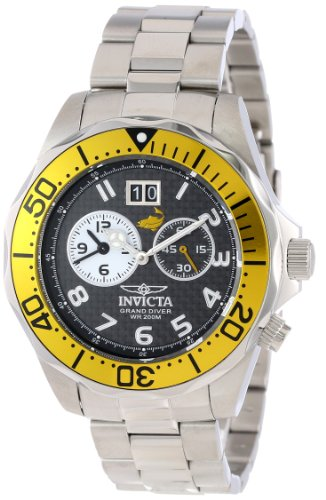 "インビクタ 時計 インヴィクタ メンズ 腕時計 Invicta Men""s 14441 Pro Diver Black Carbon Fiber Dial Stainless Steel Watch"