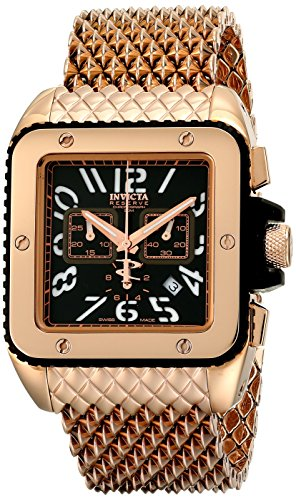 "インビクタ 時計 インヴィクタ メンズ 腕時計 Invicta Men""s 1694 """"Cuadro"""" 18k Rose Gold Ion-Plated Watch with Mesh Bracelet"