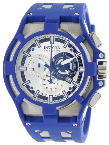 インビクタ 時計 インヴィクタ メンズ 腕時計 Invicta Men's 14009 Akula Reserve Chronograph Silver Dial Blue Polyurethane Watch