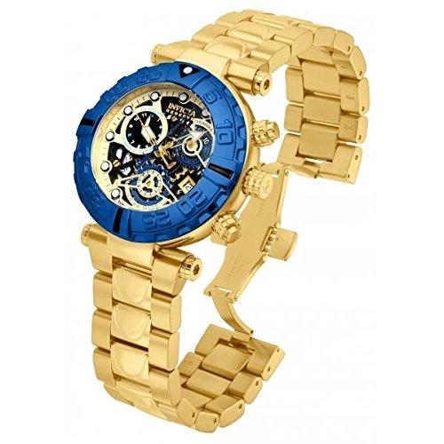 インビクタ 時計 インヴィクタ メンズ 腕時計 Invicta Subaqua 15021 47mm Gold Plated Stainless Steel Case Gold Tone Steel Bracelet flame fusion Men's Watch