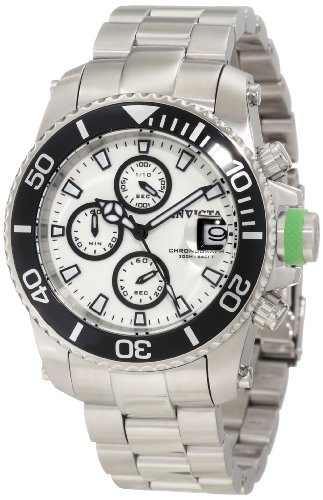 "インビクタ 時計 インヴィクタ メンズ 腕時計 Invicta Men""s 11223 Pro Diver Chronograph White Dial Stainless Steel Watch"