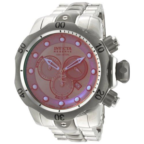 """インビクタ 時計 インヴィクタ メンズ 腕時計 Invicta Men""""s 0967 Venom Reserve Chronograph Rose Tinted Crystal Stainless Steel Watch"""