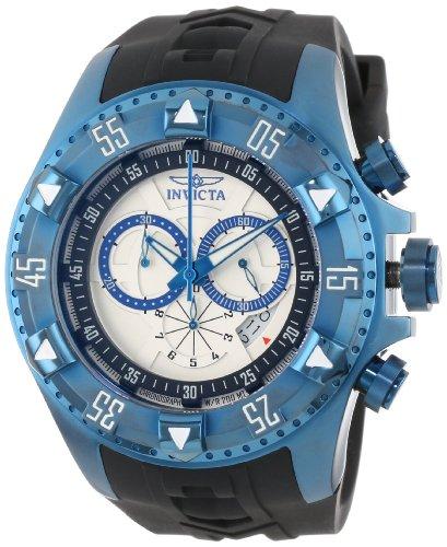 """インビクタ 時計 インヴィクタ メンズ 腕時計 Invicta Men""""s 12689 Excursion Sport Chronograph Silver Dial Black Silicone Watch"""