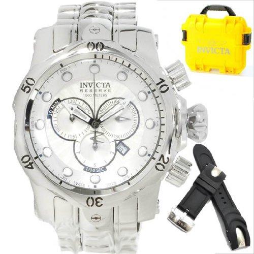 インビクタ 時計 インヴィクタ メンズ 腕時計 Invicta Venom Chronograph Silver Dial Stainless Steel Mens Watch 13879