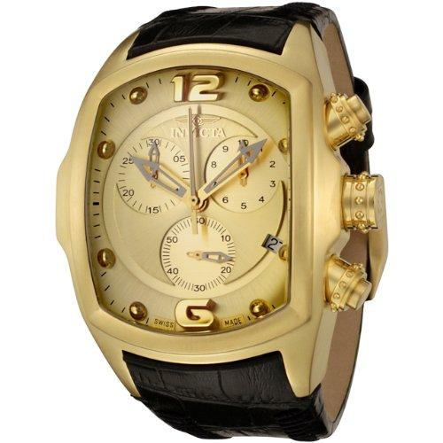 インビクタ 時計 インヴィクタ メンズ 腕時計 Invicta Men's 6731 Lupah Revolution Collection Chronograph Black Leather Watch