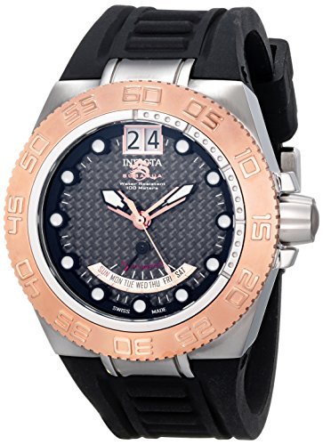 """インビクタ 時計 インヴィクタ メンズ 腕時計 Invicta Men""""s 10879 Subaqua Reserve GMT Grey Dial Grey Rubber Watch"""