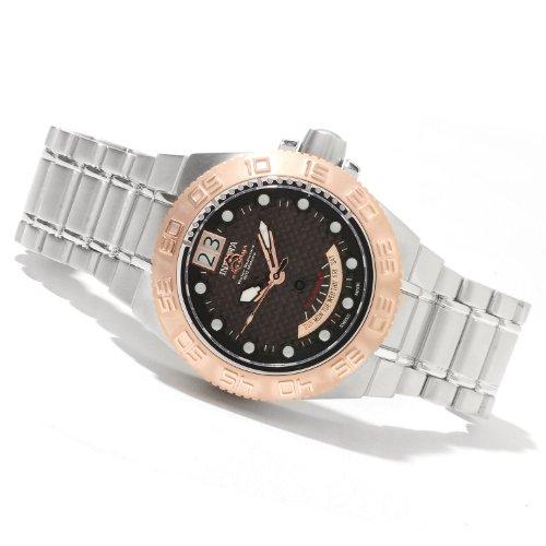 """インビクタ 時計 インヴィクタ メンズ 腕時計 Invicta Men""""s 10878 Subaqua Swiss Quartz Gold-Tone Bezel Stainless Steel Bracelet Watch"""