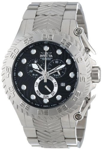 "インビクタ 時計 インヴィクタ メンズ 腕時計 Invicta Men""s 12931 Pro Diver Chronograph Black Textured Dial Stainless Steel Watch"