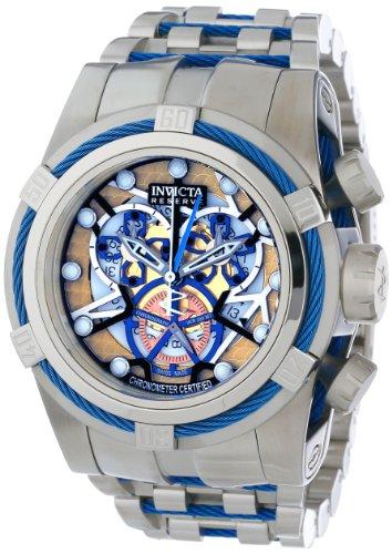 """インビクタ 時計 インヴィクタ メンズ 腕時計 Invicta Men""""s 13753 Bolt Reserve Chronograph Gold Tone and Rose Dial Stainless Steel Watch"""