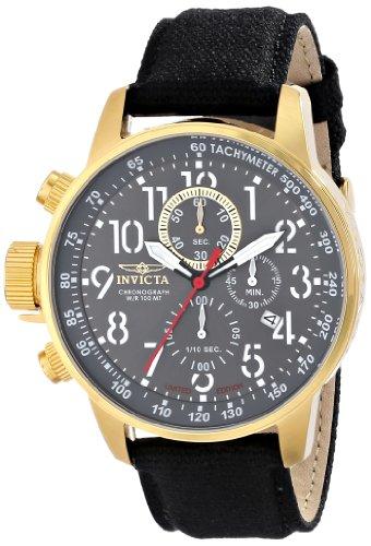 """インビクタ 時計 インヴィクタ メンズ 腕時計 Invicta Men""""s ILE1515ASYB Force Analog Display Japanese Quartz Gold Case Watch"""