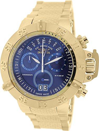 """インビクタ 時計 インヴィクタ メンズ 腕時計 Invicta Men""""s 17617 Subaqua Analog Display Swiss Quartz Gold Watch"""