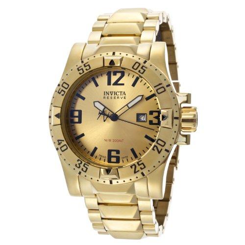 インビクタ 時計 インヴィクタ メンズ 腕時計 Invicta Men's 14036 Excursion Reserve Gold Tone Dial 18k Gold Ion-Plated Stainless Steel Watch