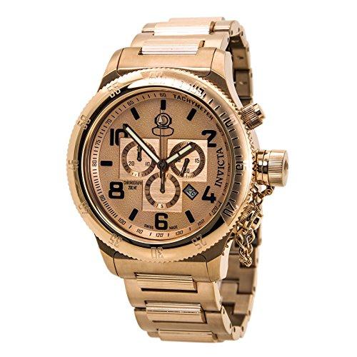 インビクタ 時計 インヴィクタ メンズ 腕時計 Invicta Russian Diver Chronograph Rose Dial Rose Gold Ion-plated Mens Watch 15477