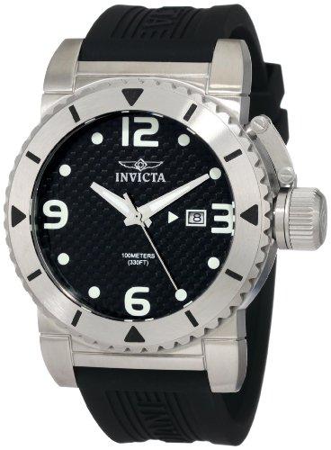 ★日本の職人技★ インビクタ 時計 インヴィクタ メンズ 腕時計 Invicta Men's 1431 Sea Hunter Black Dial Rubber Watch, 東伯郡 64933960