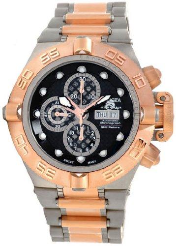 インビクタ 時計 インヴィクタ メンズ 腕時計 Invicta Men's 11048 Subaqua Noma IV Swiss Automatic Chronograph Titanium and Rose Gold-Tone Stainless Steel Bracelet Watch