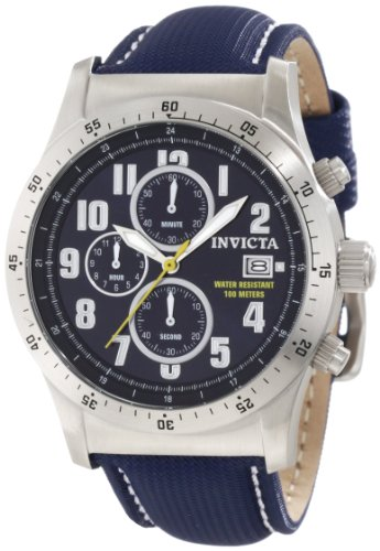 "インビクタ 時計 インヴィクタ メンズ 腕時計 Invicta Men""s 1317 Specialty Chronograph Navy Dial Blue Techno Watch"