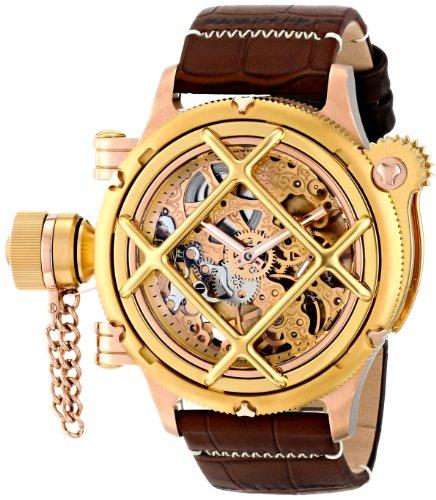 """インビクタ 時計 インヴィクタ メンズ 腕時計 Invicta Men""""s 16371 Russian Diver Analog Display Mechanical Hand Wind Brown Watch"""