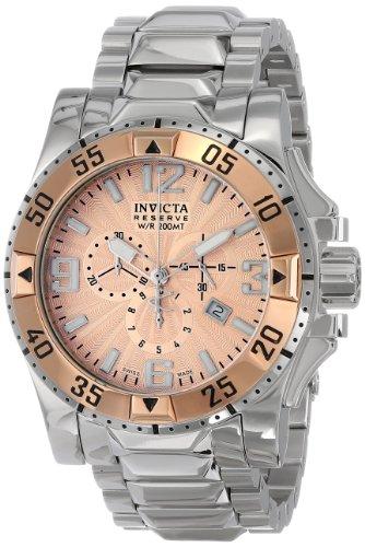 """インビクタ 時計 インヴィクタ メンズ 腕時計 Invicta Men""""s 10890 Excursion Reserve Chronograph Rose Gold Tone Textured Dial Stainless Steel Watch"""