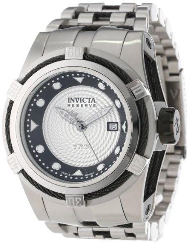 """インビクタ 時計 インヴィクタ メンズ 腕時計 Invicta Men""""s 12679 Bolt Reserve Automatic Silver Textured Dial Stainless Steel Watch"""