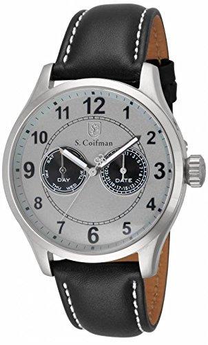 インビクタ 時計 インヴィクタ メンズ 腕時計 Invicta S. Coifman Multi-Function Light Grey Dial Leather Mens Watch SC0315
