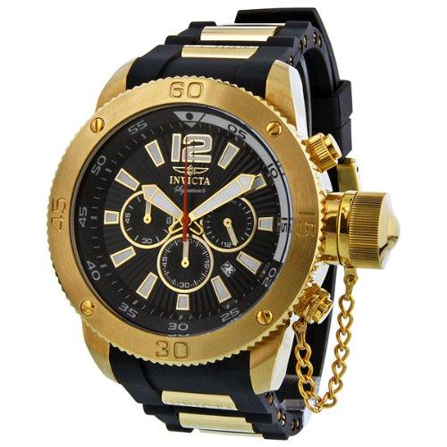 インビクタ 時計 インヴィクタ メンズ 腕時計 Invicta Signature II Russian Diver Black Dial Chronograph Mens Watch 7427
