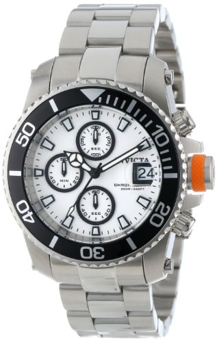 """インビクタ 時計 インヴィクタ メンズ 腕時計 Invicta Men""""s 11222 Pro Diver Chronograph White Dial Stainless Steel Watch"""