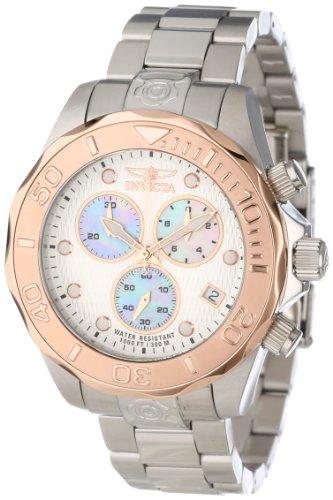 """インビクタ 時計 インヴィクタ メンズ 腕時計 Invicta Men""""s 11450 Pro Diver Chronograph Silver Tone Textured Dial Stainless Steel Watch"""