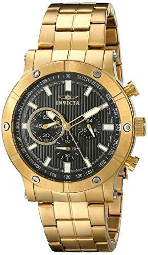 "インビクタ 時計 インヴィクタ メンズ 腕時計 Invicta Men""s 18163 Specialty Analog Display Japanese Quartz Gold Watch"