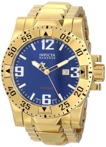 """インビクタ 時計 インヴィクタ メンズ 腕時計 Invicta Men""""s 6248 """"""""Reserve Collection Excursion Edition"""""""" 18k Gold-Plated Watch"""