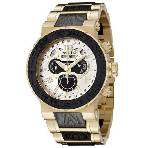 """インビクタ 時計 インヴィクタ メンズ 腕時計 Invicta Men""""s 6777 Reserve Collection Chronograph 18k Gold-Plated and Black Polyurethane Watch"""